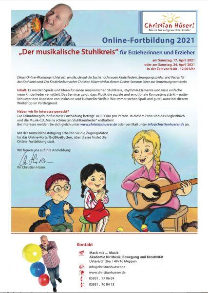 """Fortbildung: """"Der musikalische Stuhlkreis"""" - 17.04.2021"""