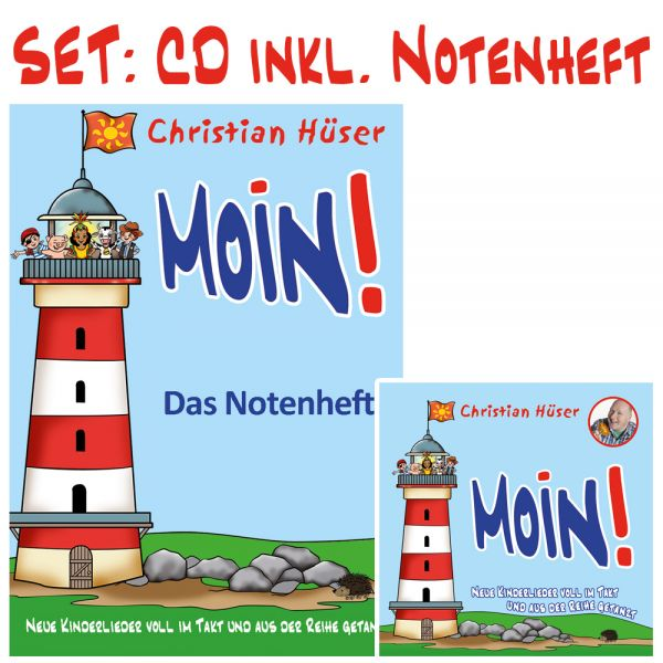 "Set: CD ""Moin!"" inkl. Notenheft"