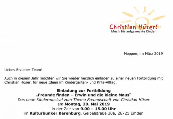 """Fortbildung """"Erwin und die kleine Maus"""""""