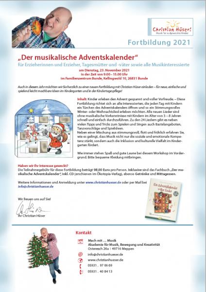 """Fortbildung Bunde """"Der musikalische Adventskalender"""""""
