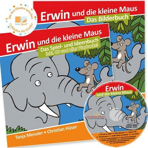 """CD """"Erwin und die kleine Maus"""" + Begleitbuch (SET!)"""