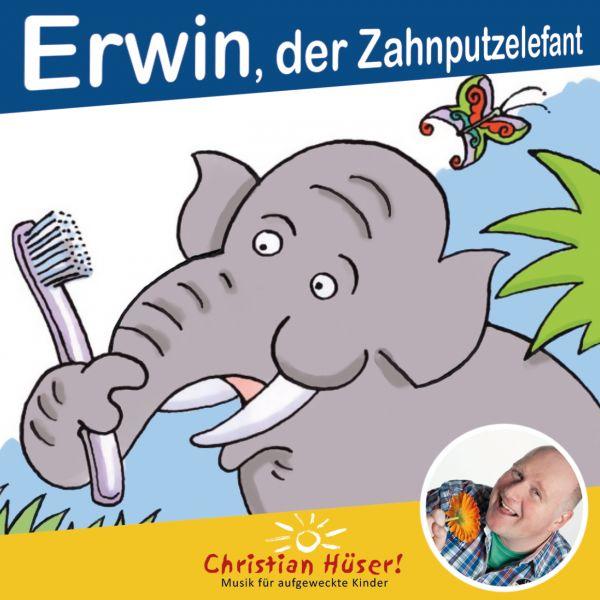 Erwin, der Zahnputzelefant (Mini Bilderbuch)