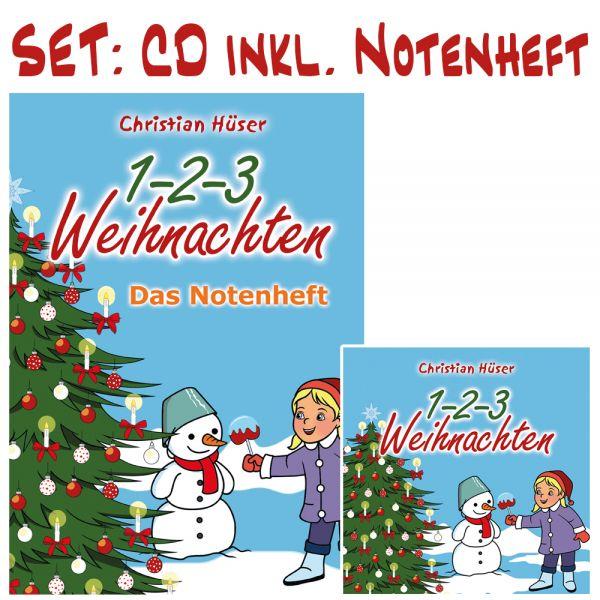 """CD """"1-2-3 Weihnachten"""" + Begleitbuch (SET!)"""
